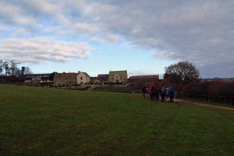 Heading towards the racing yard of Kim Bailey