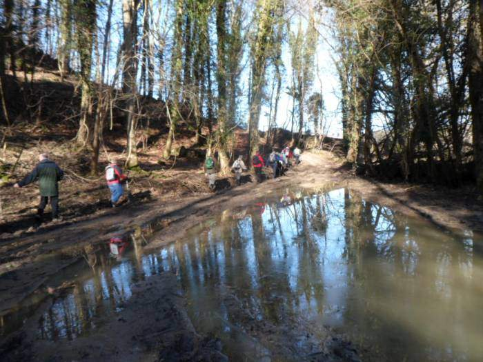 "And pass ""Ann's puddle"" - much drier than it was on 2nd January!"
