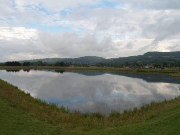 A lovely reflection in Witcombe Reservoir