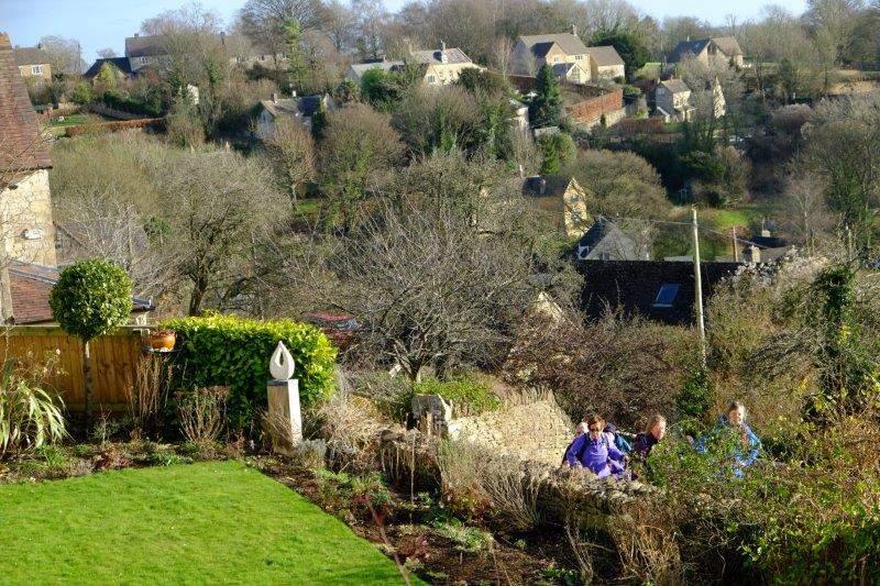 Where we climb up through the village