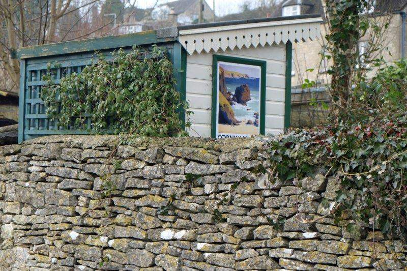 And a poster for Cornwall in a garden