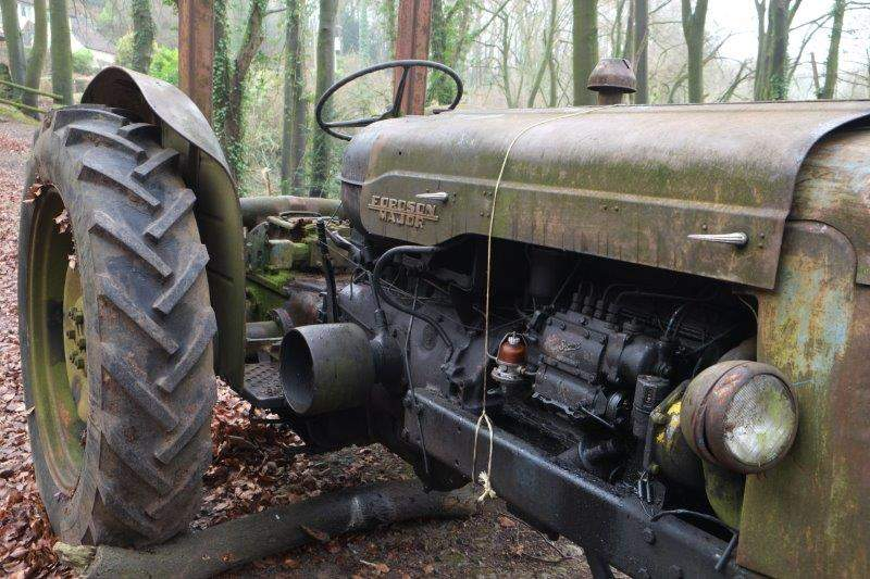Past an old Fordson Major