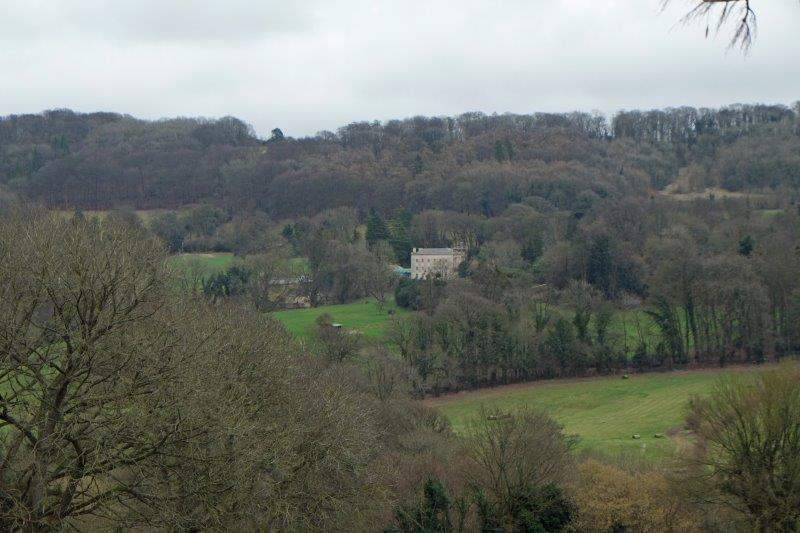 Looking across to Brownshill Court