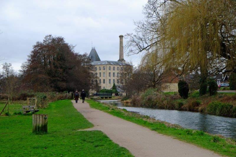Approaching Ebley Mill