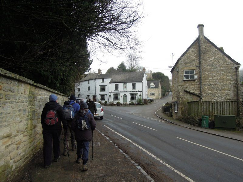 We set off through the village