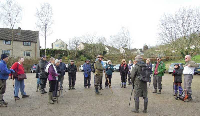 We gather in the Auction Rooms car park and Colin tells us about the mud