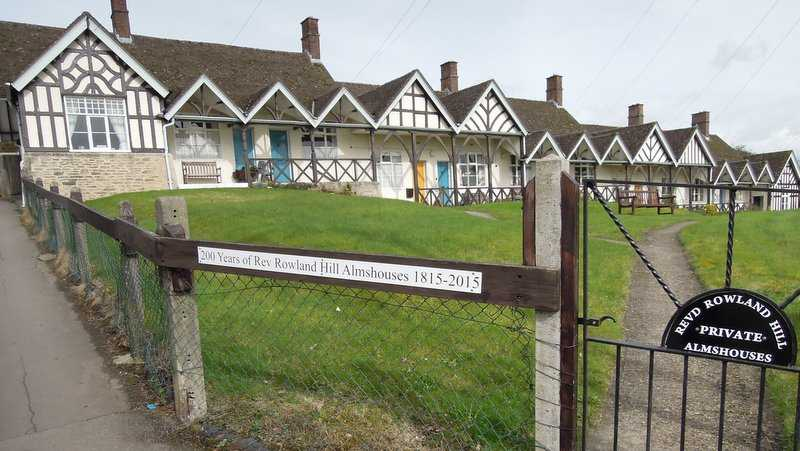 And we pass the old almshouses on our way back to the cars