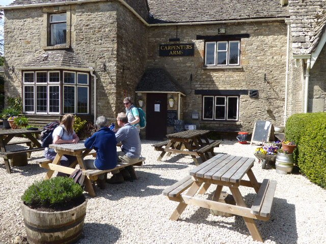 The Carpenters Arms is still shut after the fire so we picnic on their tables.