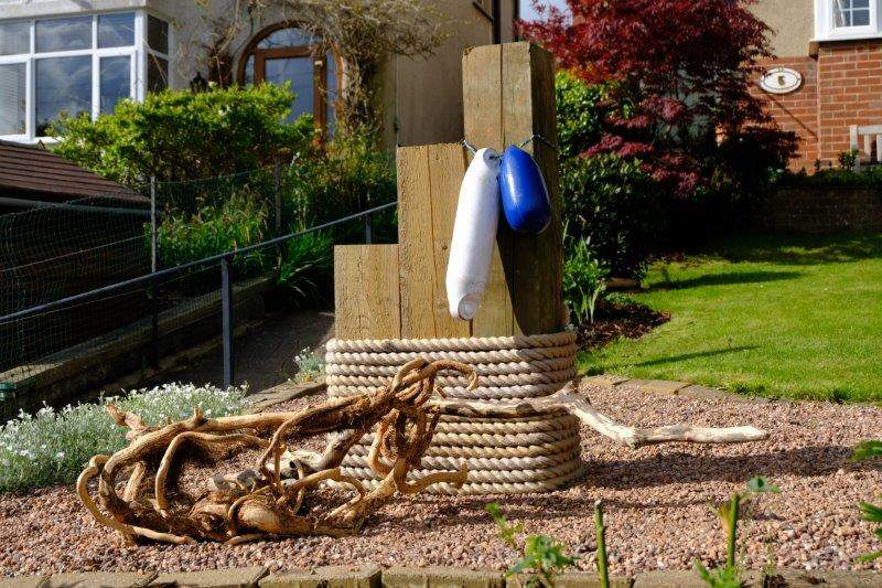 Another nautical garden as we make our way out of Sidmouth to the west