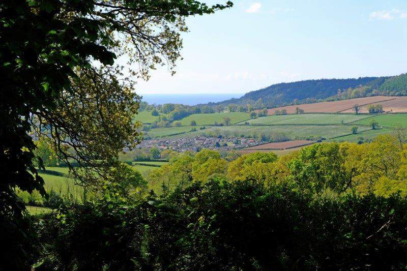 Looking down to the outskirts of Sidmouth