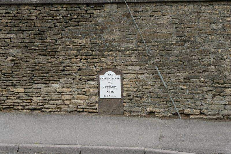 An old milestone by the road in Didmarton