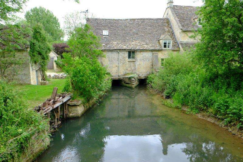 Where we look up the Windrush to an old mill