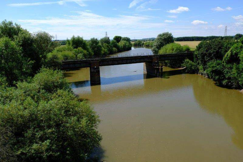 And the old rail bridge
