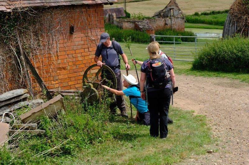 Continuing through Lassington Farm Lenneke finds an interesting bit of  farm machinery