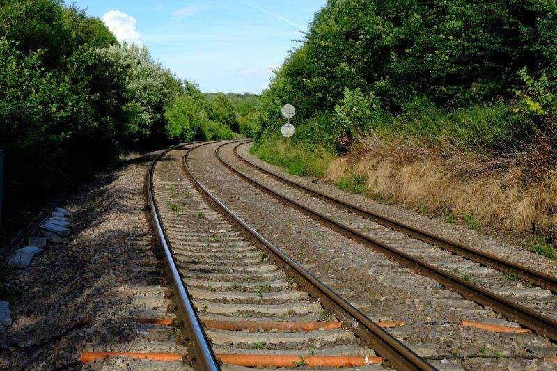 And head down over the railway