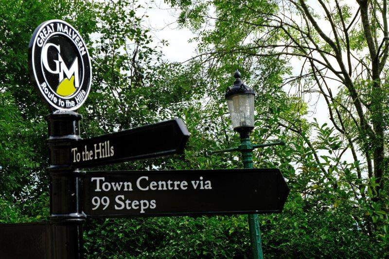 Into Great Malvern - yes there were 99 steps