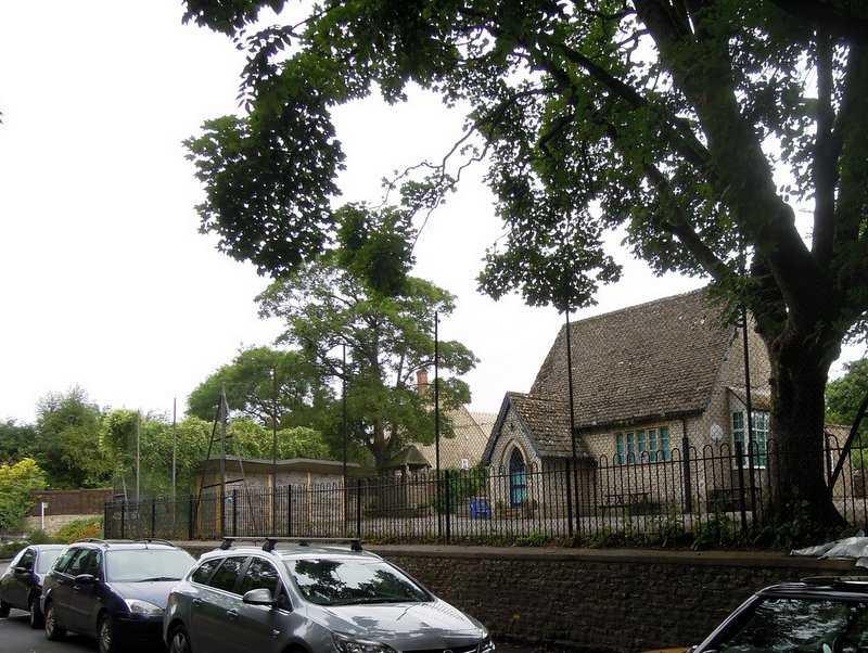 Outside the school