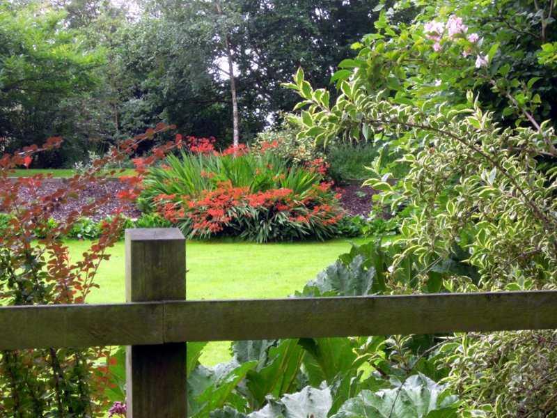 Past attractive gardens
