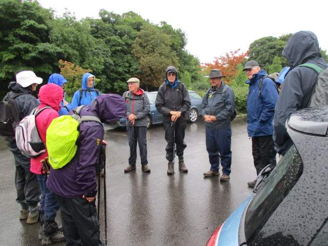 We meet Derek in the Castle Combe car park on a wet morning
