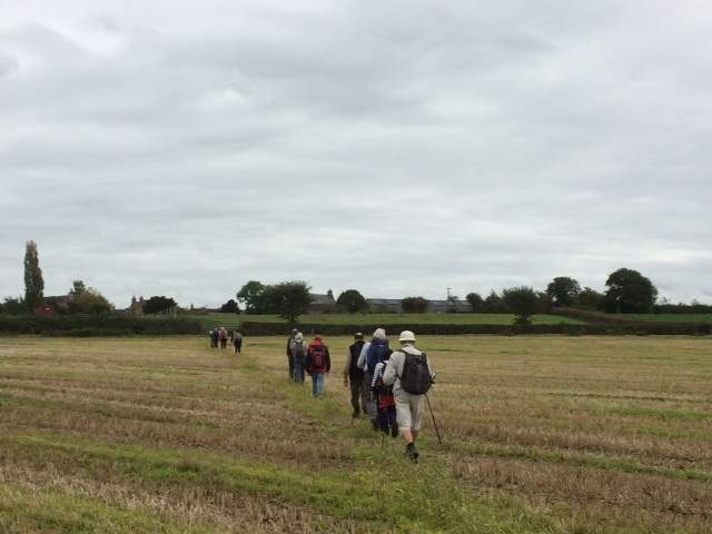 We head then over the fields to Eastington