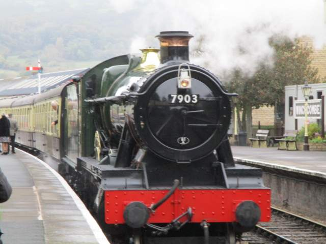 But the arrival of the steam engine brightens the day - one of the latest built, Patrick tells us