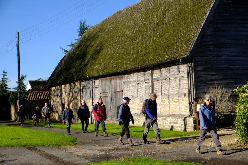 Back into the village past the Tythe Barn