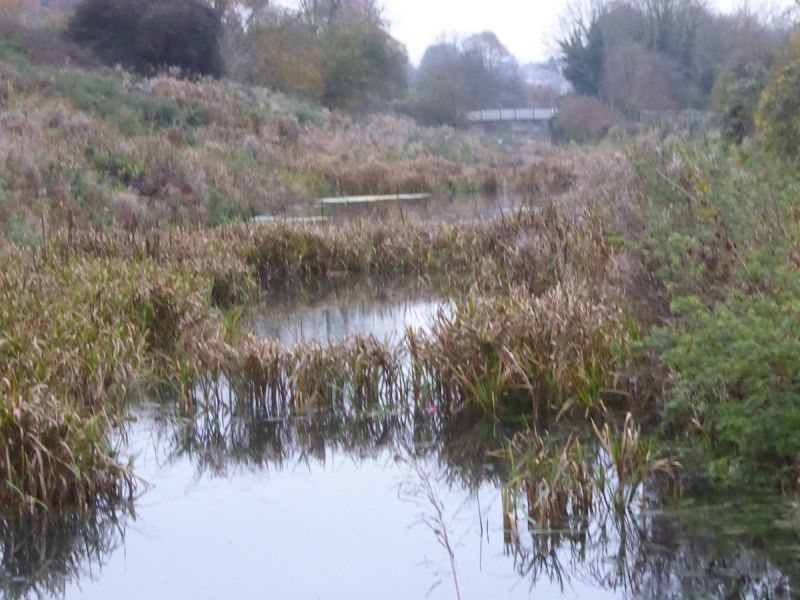 We continue past an unrestored section of the canal