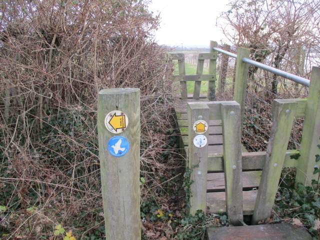 We're on the Skylark Way and the Severn Way