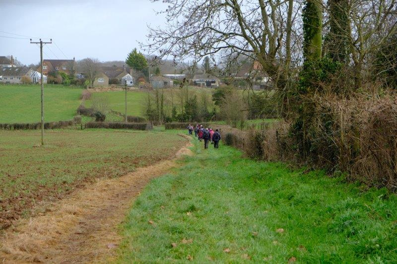 Our route continues over fields
