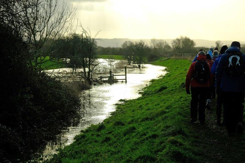 Water encroaching onto our path