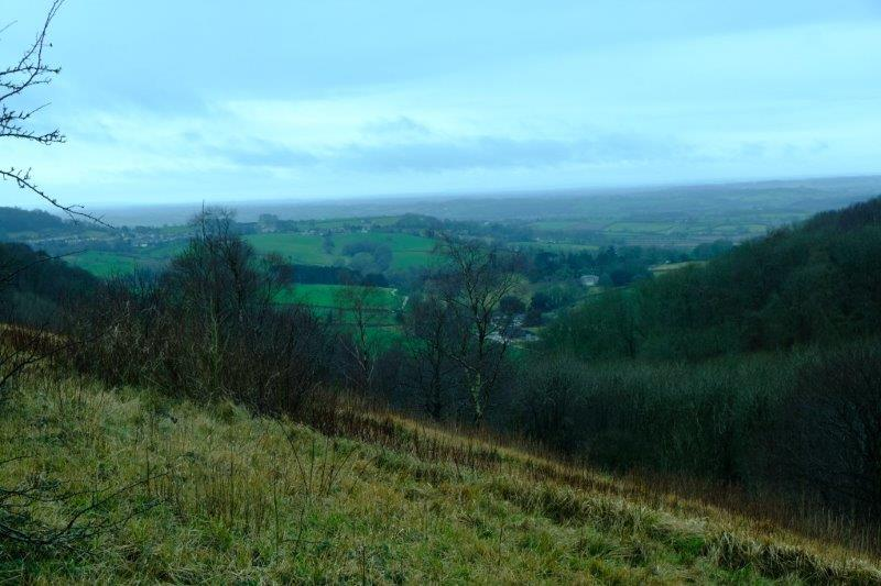 Mainly worst as we look down from Stinchcombe Hill through the rain and  gloom