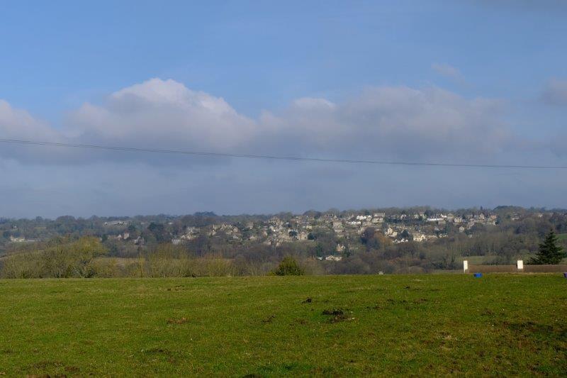 Looking across the valley to Oakridge