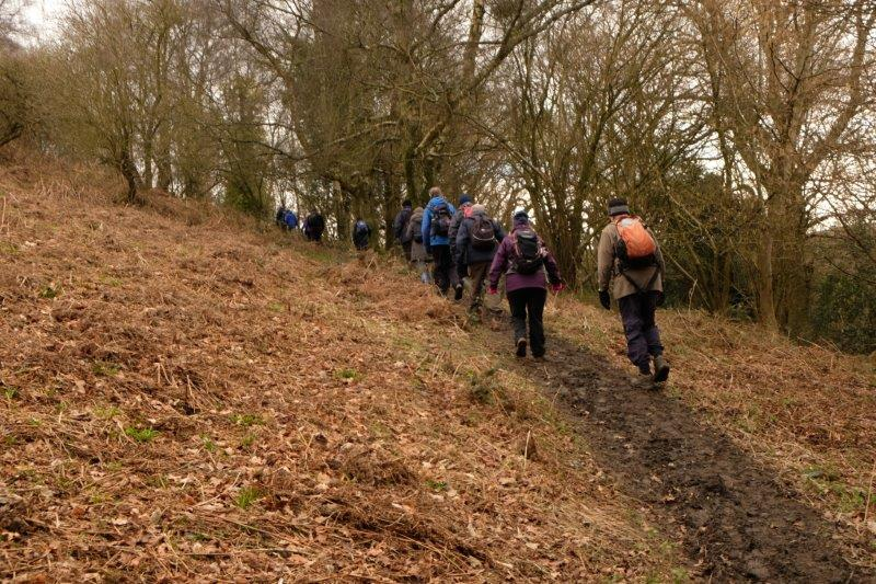And we head off round the bottom of Cam Peak