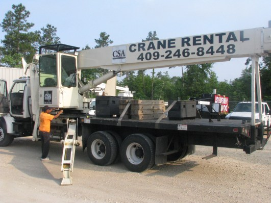 County Sign and Awning Beaumont crane rental