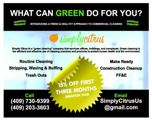 Simply Citrus Beaumont TX, Beaumont green cleaning service, commercial cleaning Southeast Texas, SETX commercial cleaning vendor, janitorial service Beaumont TX