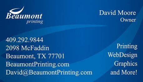 Beaumont Printing - Business Cards SETX