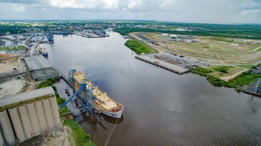 Port of Beaumont grain export