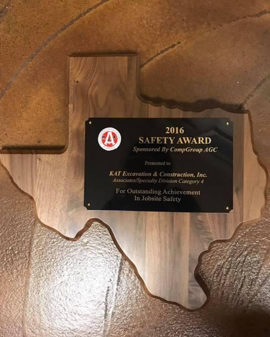 KAT Construction Beaumont, Constructiion Safety Award Southeast Texas, SETX Safety Awards, Golden Triangle Construction Safety Awards