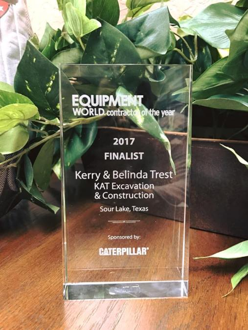 Equipment World Contractor of the Year, Equipment World Contractor of the Year 2017, KAT Construction, KAT Construction Equipment World Finalist, KAT Construction Caterpillar