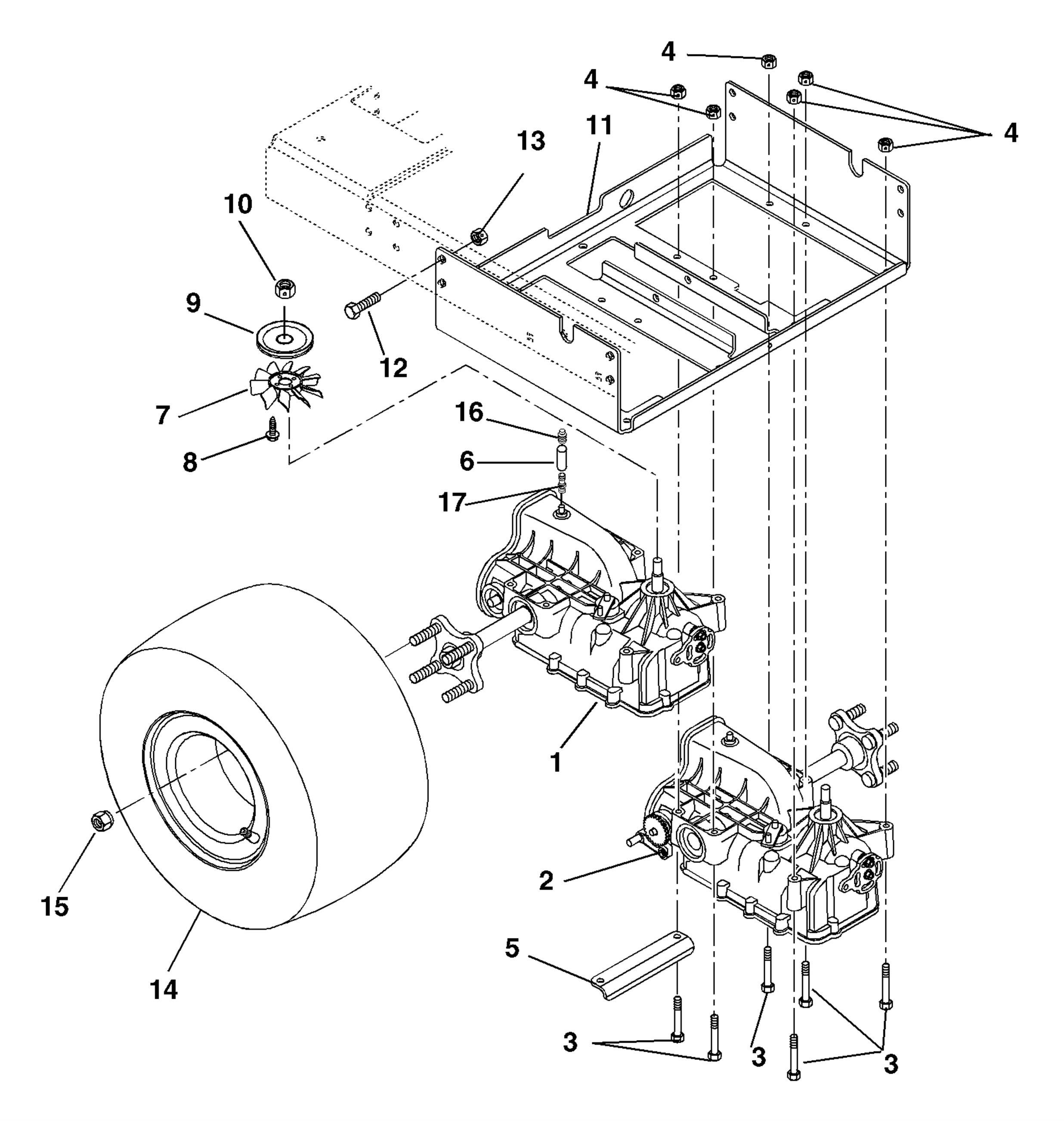 Transaxle And Wheels