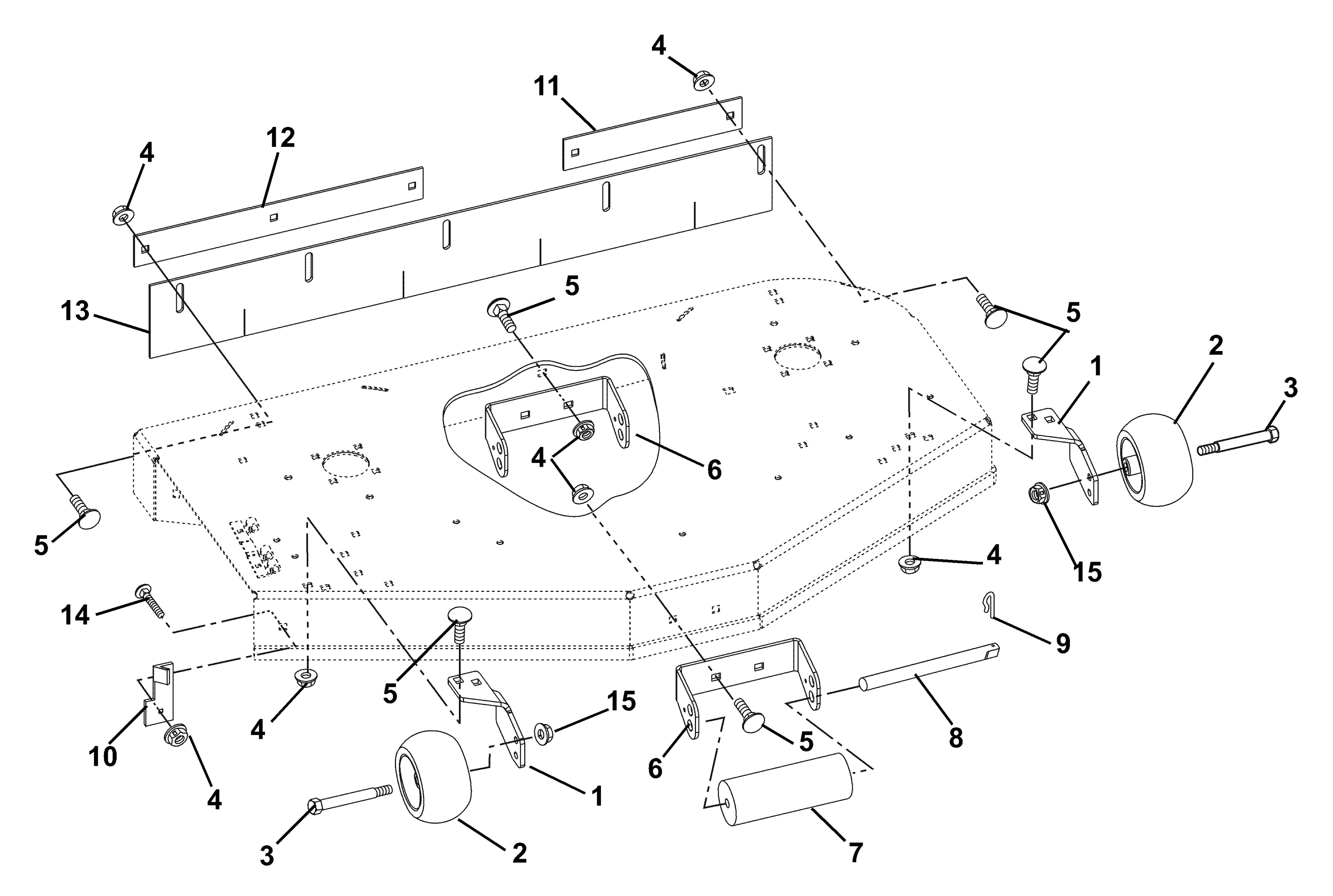 Mower Brackets And Rollers