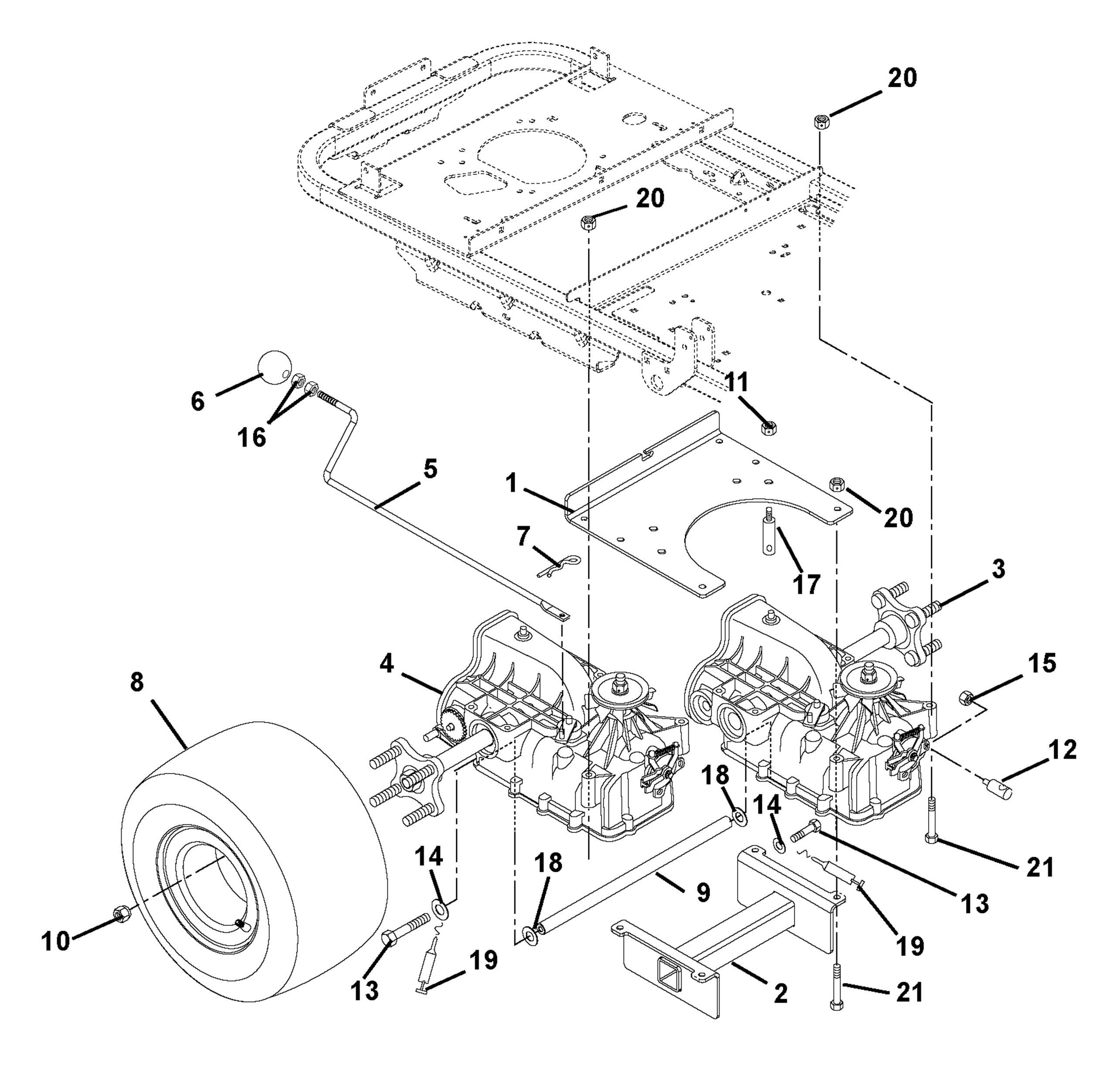 Transaxle Dump Valves And Rear Wheels