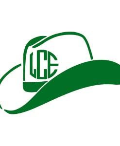 Monogram Cowboy Hat Decal