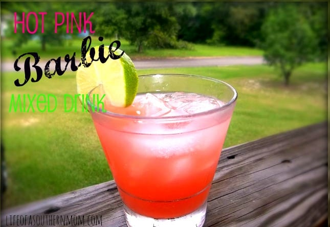 Hot Pink Barbie Mixed Drink
