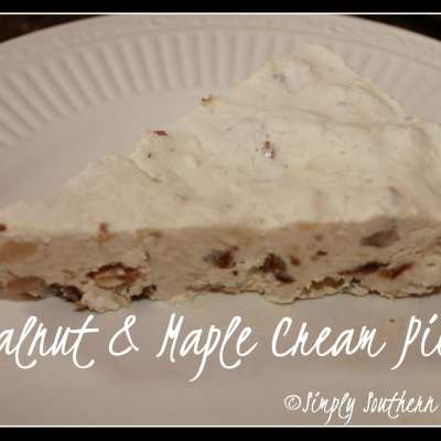 Walnut & Maple Cream Pie Recipe