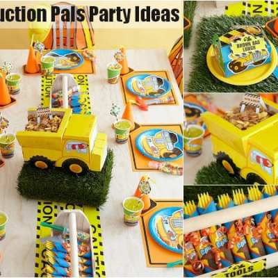 Construction Pals Party Ideas and Supplies from Birthday Express!