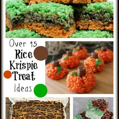 Over 15 Rice Krispie Treat Ideas