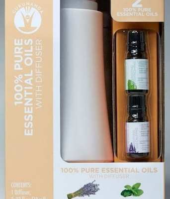 GuruNanda™ 100% Pure Essential Oils with Diffuser