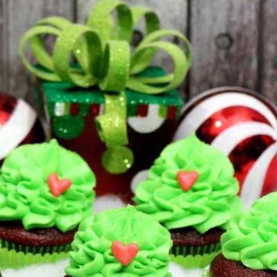 Grinch Cupcakes