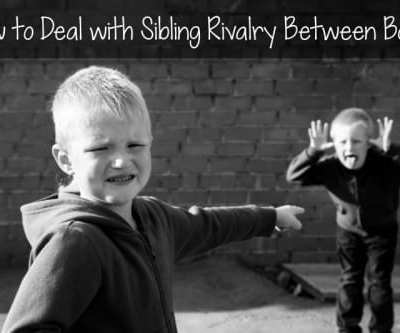 How to Deal with Sibling Rivalry Between Boys